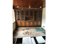 Solid mahogany sideboard with glass display cabinet
