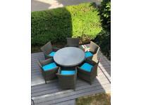 Furniture village rattan garden furniture carman table and 6 chairs