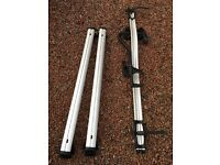 Audi A6 Avant roof bars (carrier unit) and bicycle rack