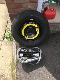 Seat Ibiza Spare wheel , new tyre , brace kit.