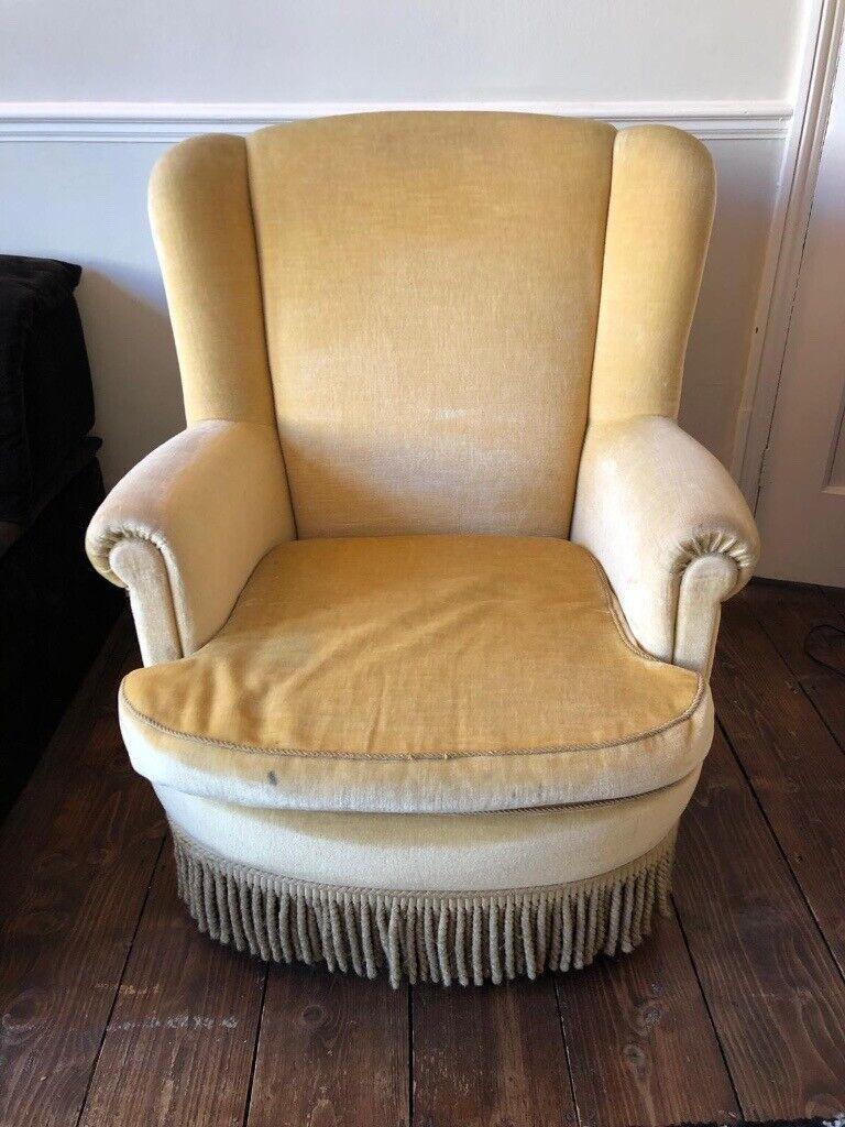 Comfortable armchair yellow   in Barnes, London   Gumtree