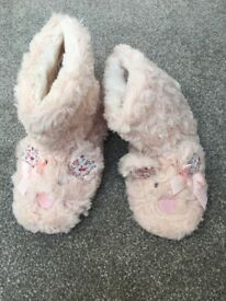 Pink bunny rabbit slippers from M&S