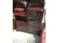Art Deco Oak Bookcase- must be seen . Really unusual .
