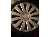 4x audi/vw alloys with tyres
