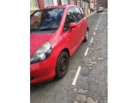 I am selling my ever faithful Honda Jazz to the first person to call
