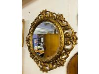 Beautiful large gold framed vintage bevel edge mirror in lovely condition