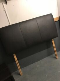 Real soft leather brown double headboard £30