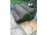 4 rolls of real grass turf £10