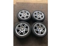 "MERCEDES C CLASS 17"" ALLOY WHEELS AMG W204 ALLOYS WITH TYRES"