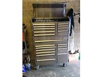 "Kincrome 41"" 20 drawer chest and trolley combo toolbox."