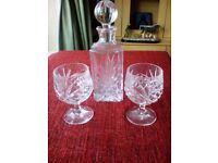 Brand New Crystal Decanter & Matching Glasses