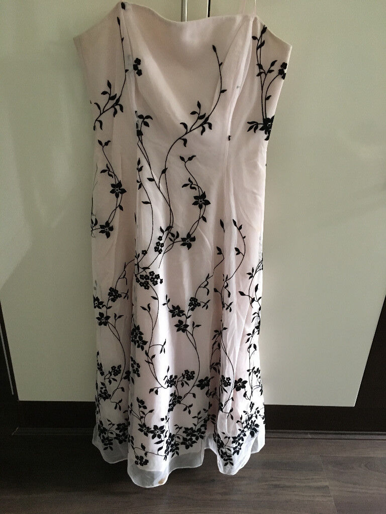 Off-shoulder Strapless Evening Gown - Size 10