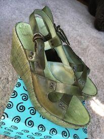 Ladies Bertie Wedge Sandals