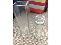 Wedding decorations clear glass vases