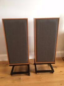 Spendor BC1 Vintage Speaker Pair with trolley stands