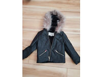 Girls River Island Leather Jacket Age 5 Years