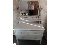 Shabby Chic Dressing Table with Mirror.