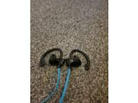 Blue Bluetooth Earphones
