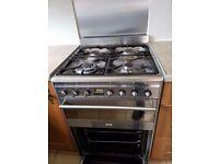 Smeg stainless steel cooker
