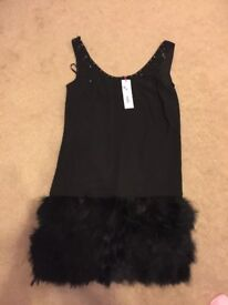 AS NEW: Beautiful black dress (size 12) - perfect for all Christmas + New Year festivities