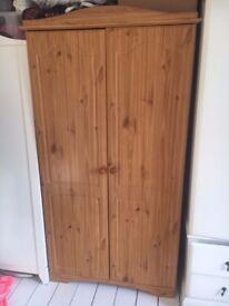 Solid Wooden Pine Wardrobe