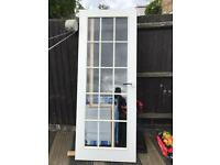 Glass panel internal door white
