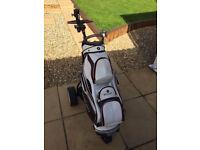Motocaddy Golf Trolley + Motocaddy White Cart Bag