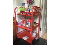 Red ikea kitchen caddy