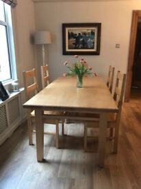 Bespoke dining room table and 8 matching chairs