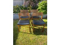 Mid Century Dining Chairs x 4 - 1960's / 1970's Vintage / Retro