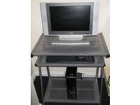 DELL OPTIPLEX ENHANCED PC COMPUTER + FLATSCREEN TV + COMPUTER DESK + WINDOWS 10 + OFFICE