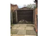 Concrete garage 25ft x 9ft. Excellent workshop. Buyer must dismantle and take away