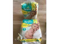 Pampers size 1 2*22pieces pack
