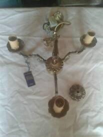 BNIB BHS three arm brass chandelier