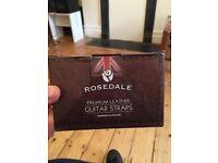 Rosedale premium leather guitar strap (rrp £20)