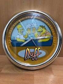 The Simpsons Duff Animated and Flashing Wall Clock