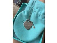 Tiffany heart key necklace