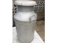Vintage Retro Aluminium Carmarthen Milk Churn For Sale