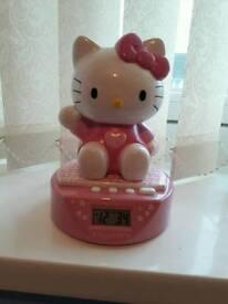 Hello kitty alarm cloxk & money box