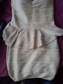 Boob tube plum dress