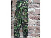 Three pairs of army combat trousers. Size 80/84/100