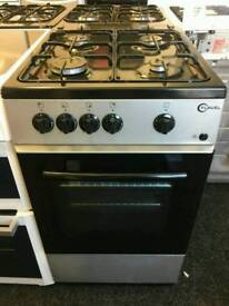 FLAVEL 50CM GAS SINGLE OVEN COOKER IN SILVER