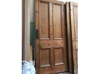 Victorian 4 panel original pine internal doors circa 1876
