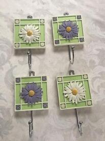 4 Disney Hooks (For Wall Mounting) - M&S & Have Never Been Used