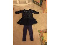 Stella McCartney kids girl star jumper dress with tullie age 6years and matching leggings age 5