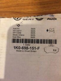 Genuine Vw Audi Seat Skoda brake pads 1K0698151F