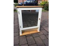 Mirrored IKEA bathroom cabinet (matching towel rail and toilet roll holder also available)