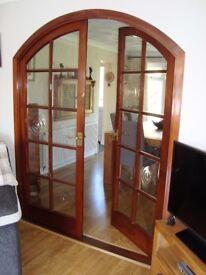 Mahoghany Glazed Arched Internal Doors