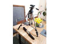 Quality Tripod & Monopod for camera/video camera - Light and Sturdy!