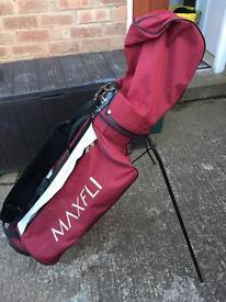 Red golf bag